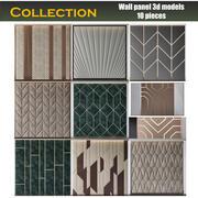 Duvar paneli koleksiyonu 10 parça 3d model
