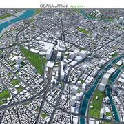 Осака в Японии 3d model