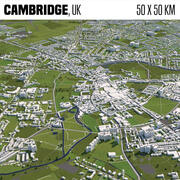 Cambridge UK 50x50km 3d model