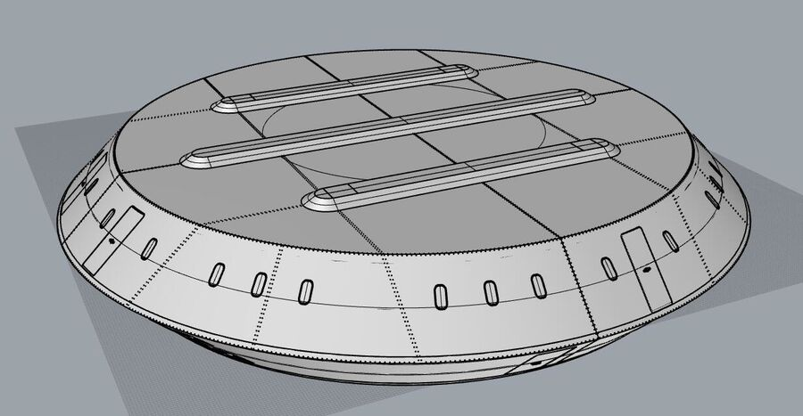 UFO aircraft royalty-free 3d model - Preview no. 12