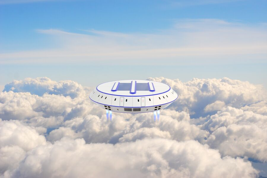 UFO aircraft royalty-free 3d model - Preview no. 2