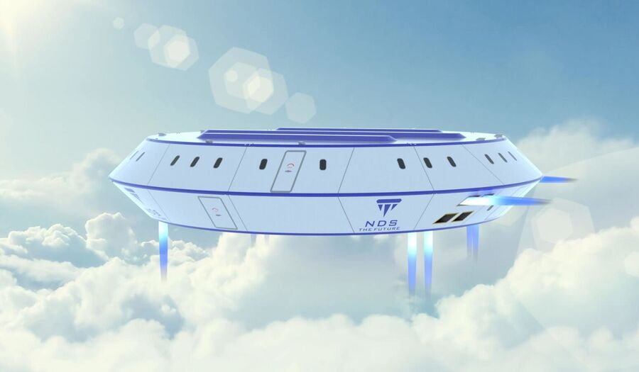 UFO aircraft royalty-free 3d model - Preview no. 1