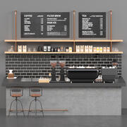 Cafe Zähler 3d Modell 3d model