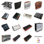 Music Studio Collection 01 3d model