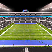 US-Fußballstadion (Nacht) 3d model