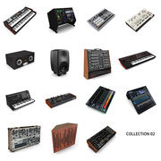 Music Studio Collection 02 3d model