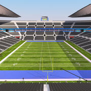 Amerykański Dzień Stadionu Piłkarskiego 3d model