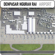 Международный аэропорт Нгурах-Рай - DPS 3d model