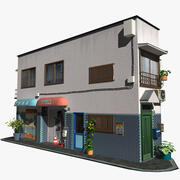 Edificio de esquina modelo 3d