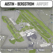 Austin - Bergström internationella flygplats - AUS 3d model