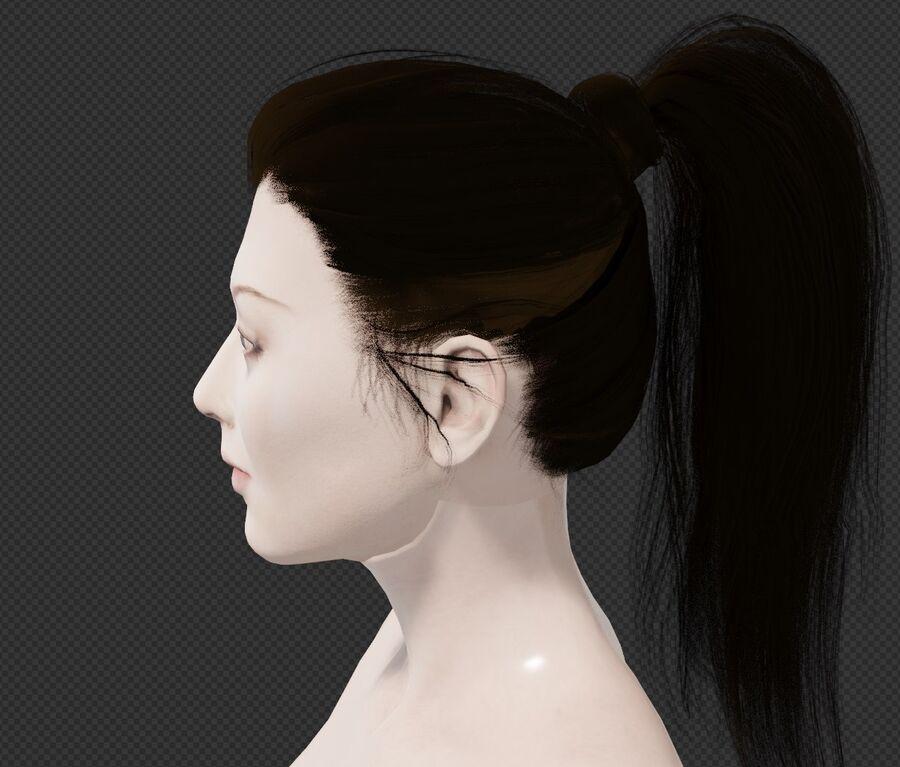 Corps complet et visage de la femme royalty-free 3d model - Preview no. 2