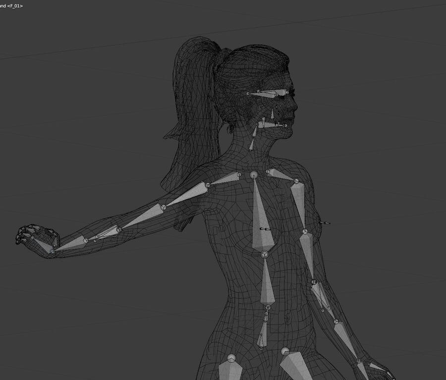 Corps complet et visage de la femme royalty-free 3d model - Preview no. 8