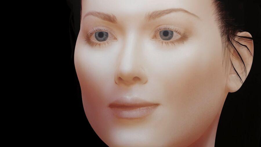 Corps complet et visage de la femme royalty-free 3d model - Preview no. 10