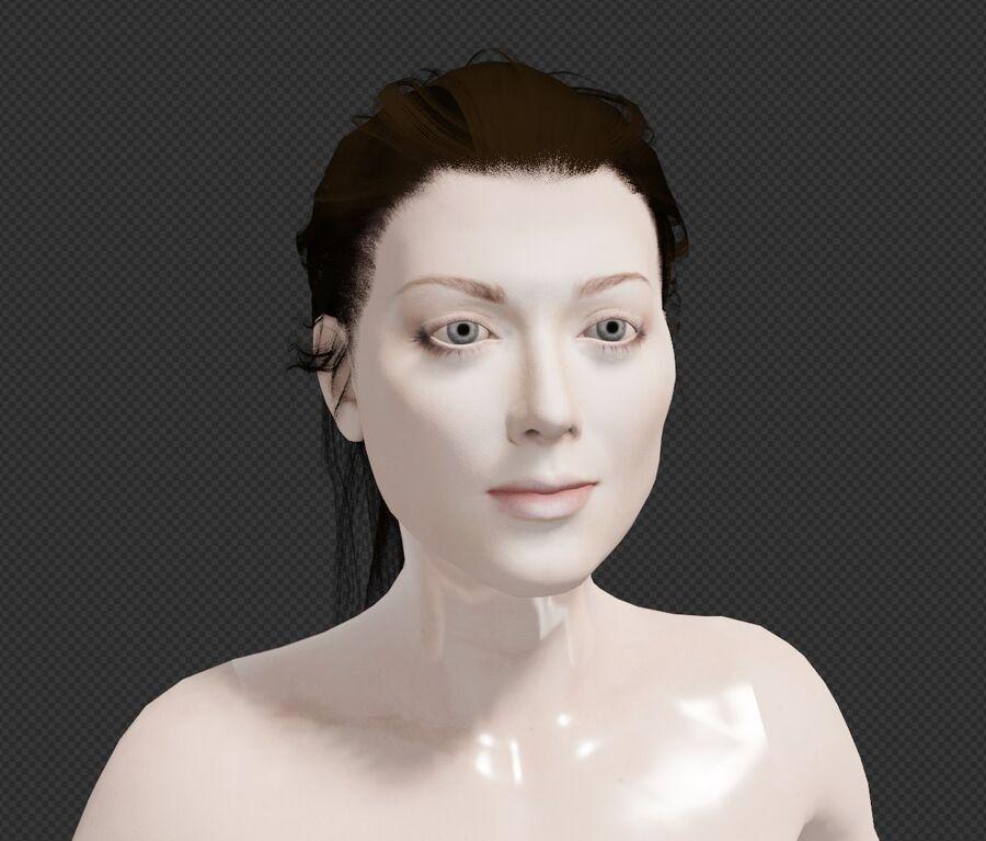 Corps complet et visage de la femme royalty-free 3d model - Preview no. 1