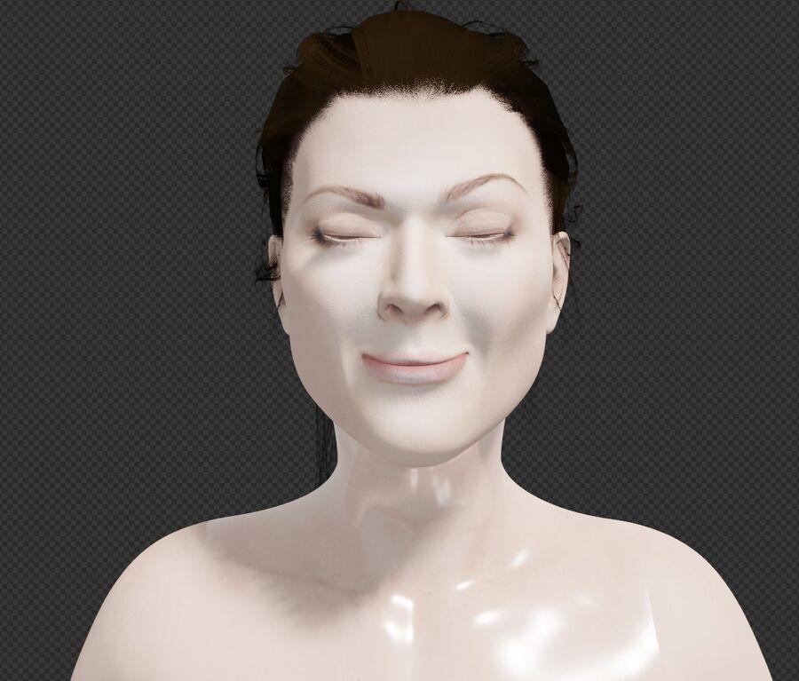 Corps complet et visage de la femme royalty-free 3d model - Preview no. 5