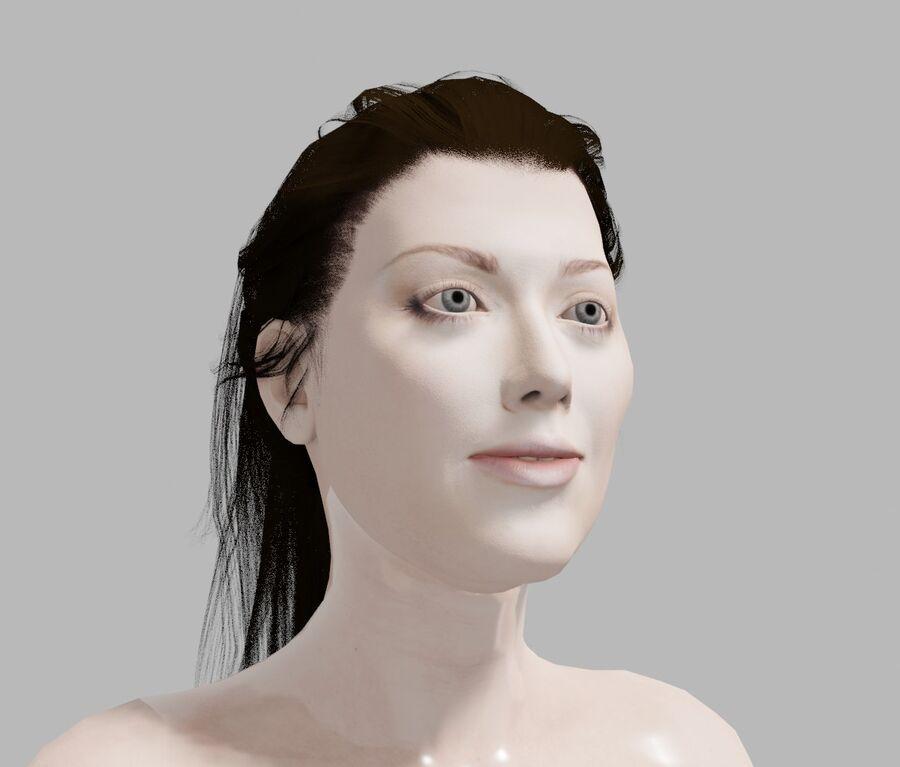 Corps complet et visage de la femme royalty-free 3d model - Preview no. 6