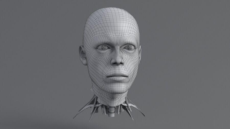 人間の頭の解剖学 royalty-free 3d model - Preview no. 40