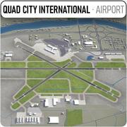 クワッドシティ国際空港-MLI 3d model