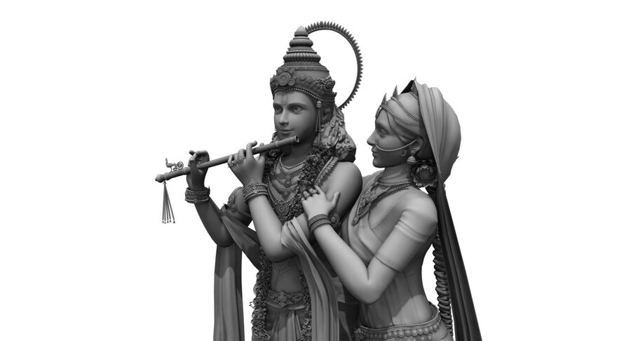 lord krishna royalty-free 3d model - Preview no. 5