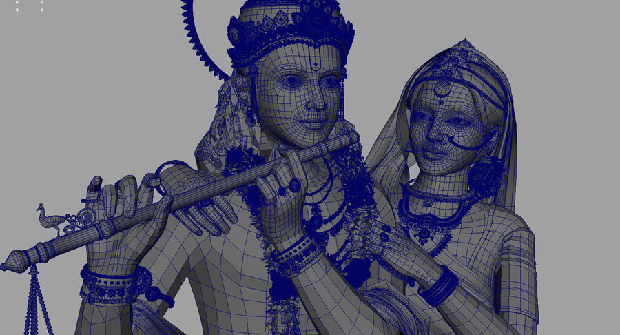 Lord krishna royalty-free 3d model - Preview no. 14