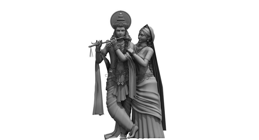 Lord krishna royalty-free 3d model - Preview no. 1