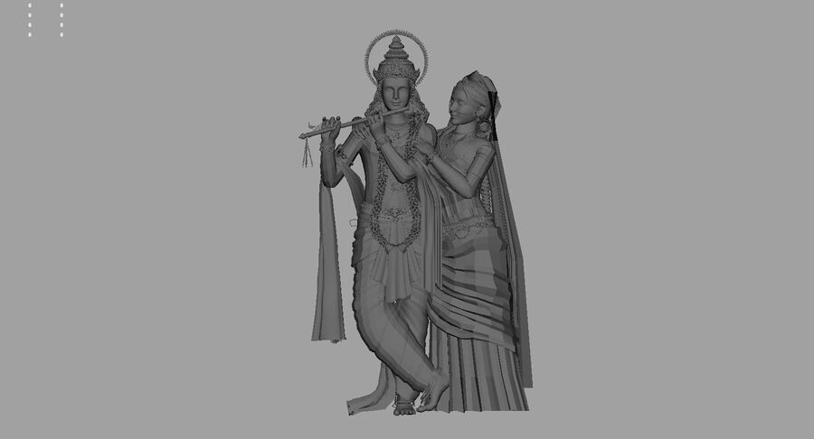 Lord krishna royalty-free 3d model - Preview no. 9