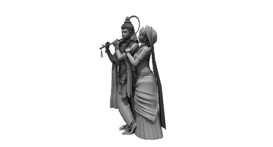 Lord krishna royalty-free 3d model - Preview no. 6