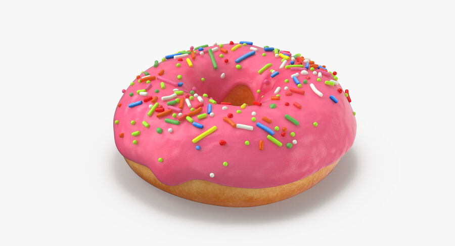 Donut 03 - Pink royalty-free 3d model - Preview no. 6