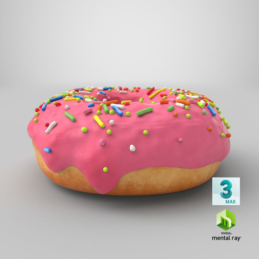 Donut 03 - Pink royalty-free 3d model - Preview no. 24