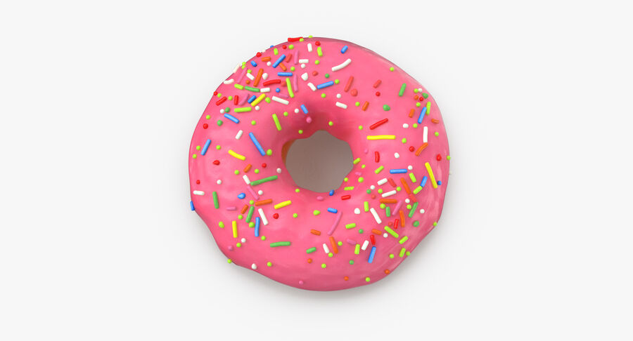 Donut 03 - Pink royalty-free 3d model - Preview no. 8