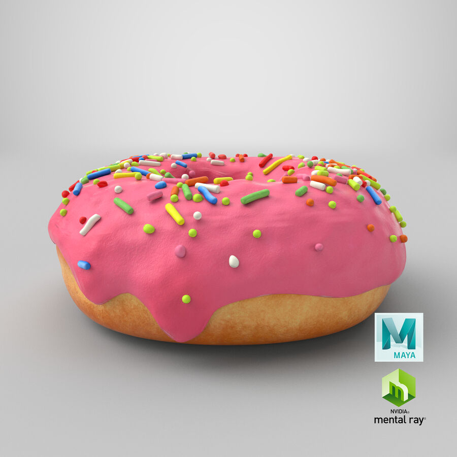 Donut 03 - Pink royalty-free 3d model - Preview no. 22