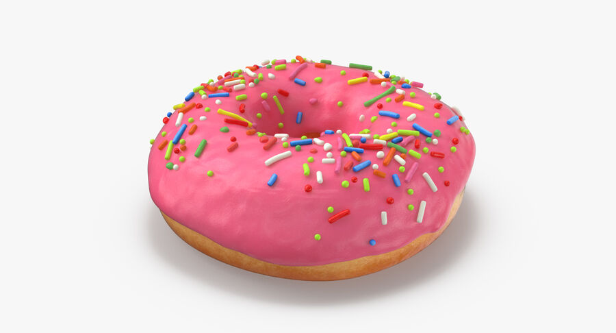 Donut 03 - Pink royalty-free 3d model - Preview no. 5