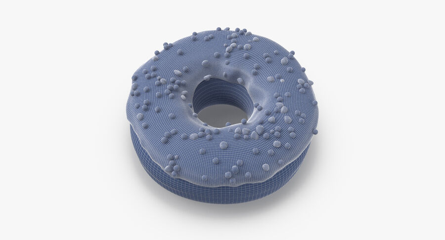 Donut 01 - Blue royalty-free 3d model - Preview no. 15
