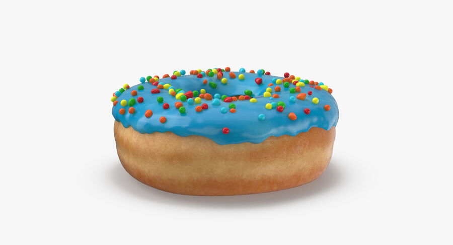Donut 01 - Blue royalty-free 3d model - Preview no. 8