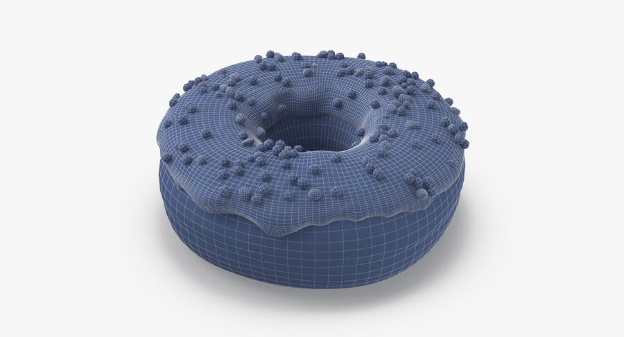 Donut 01 - Blue royalty-free 3d model - Preview no. 16