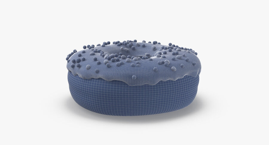 Donut 01 - Blue royalty-free 3d model - Preview no. 14