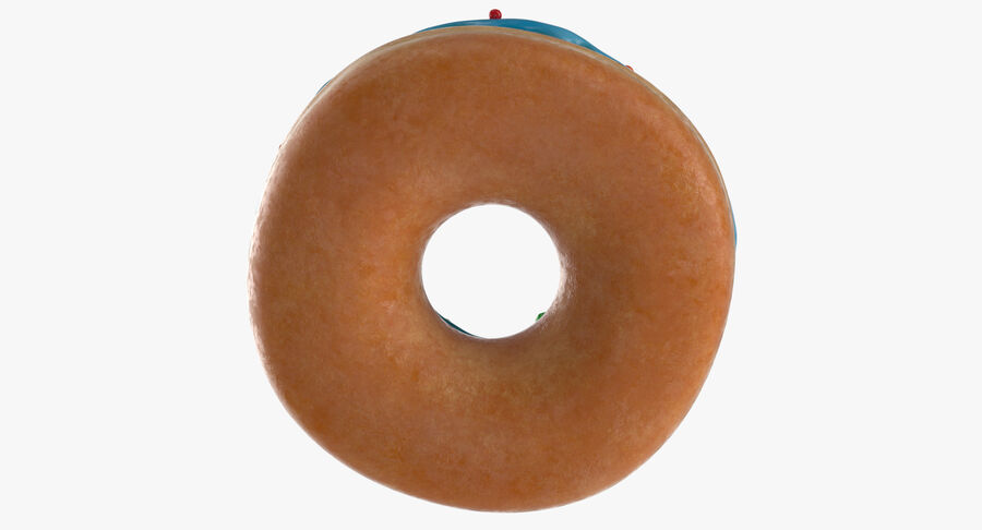 Donut 01 - Blue royalty-free 3d model - Preview no. 7
