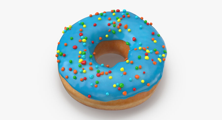 Donut 01 - Blue royalty-free 3d model - Preview no. 6