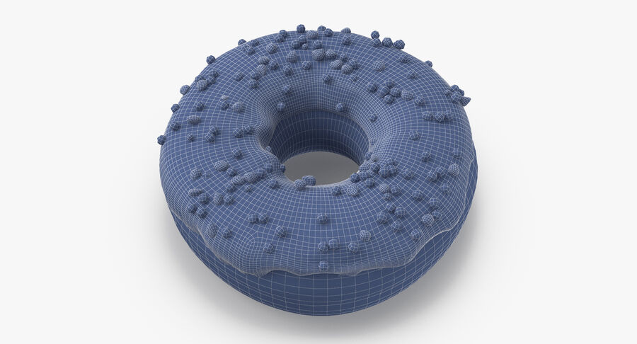Donut 01 - Blue royalty-free 3d model - Preview no. 10