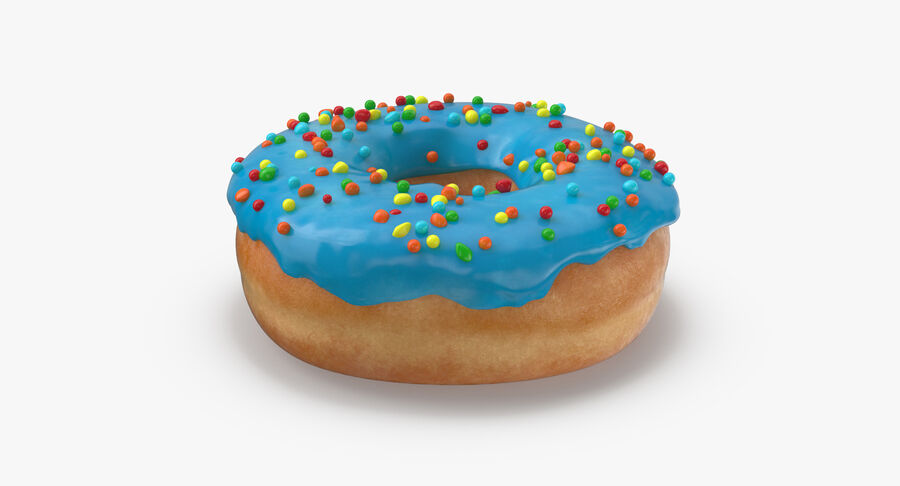Donut 01 - Blue royalty-free 3d model - Preview no. 5