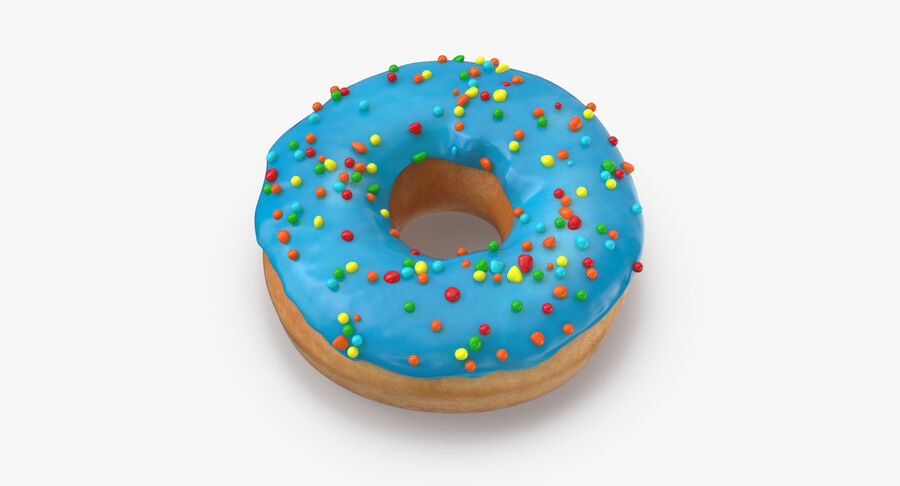 Donut 01 - Blue royalty-free 3d model - Preview no. 9