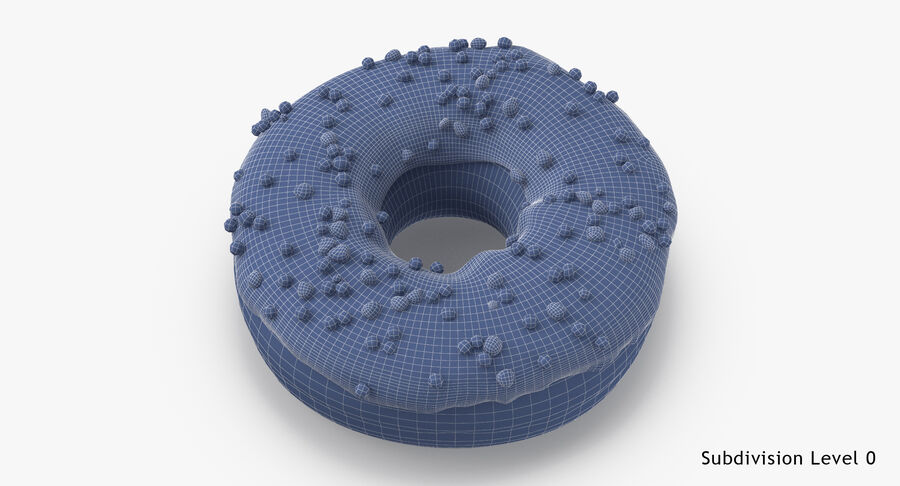Donut 01 - Blue royalty-free 3d model - Preview no. 18