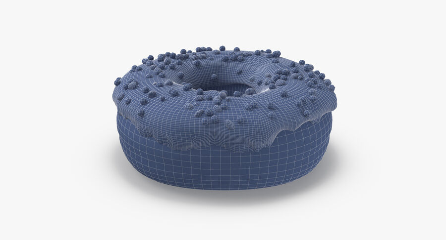 Donut 01 - Blue royalty-free 3d model - Preview no. 17