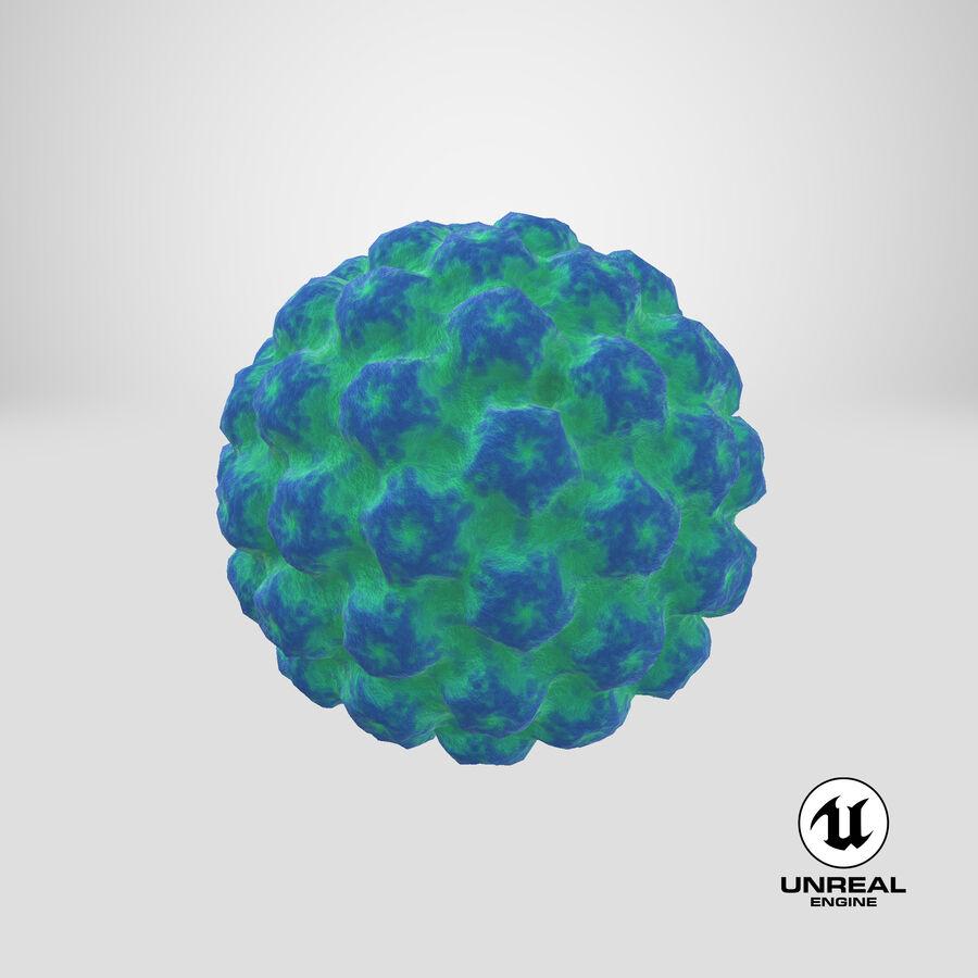 Human Papilloma Virus HPV royalty-free 3d model - Preview no. 22