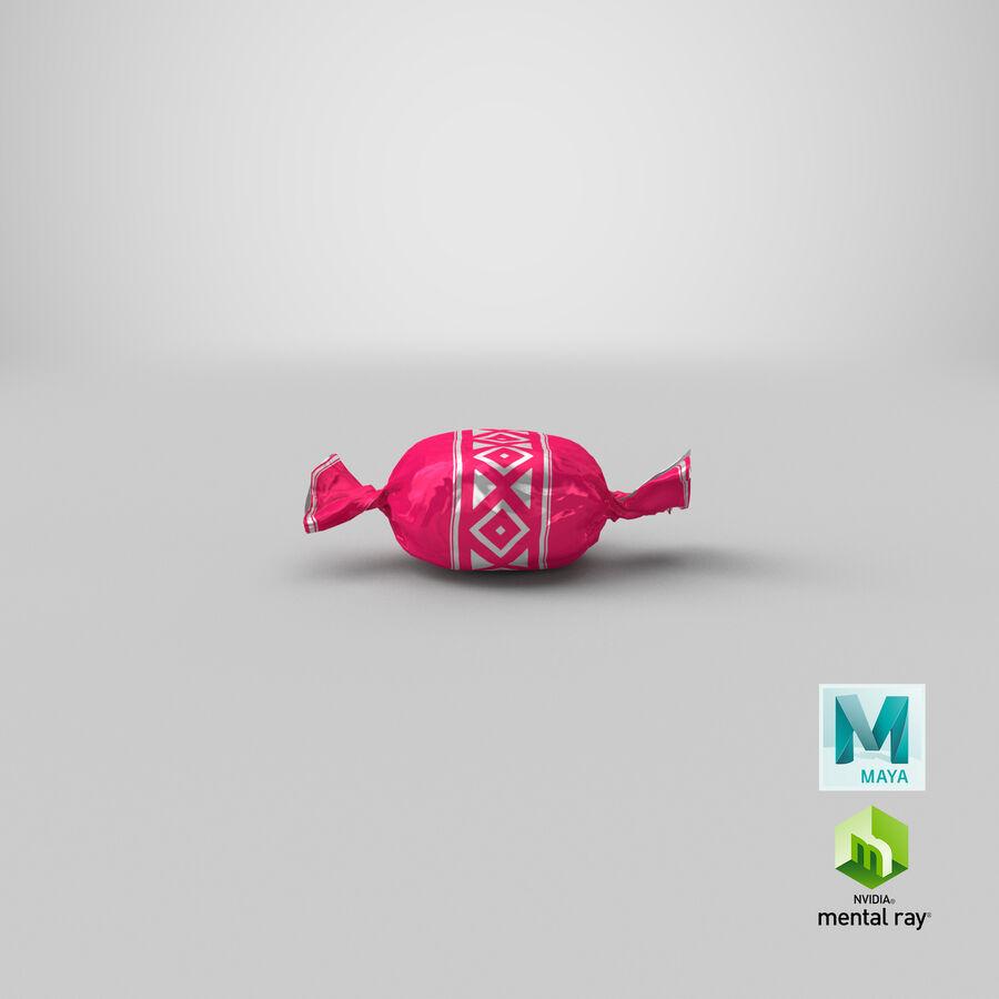 Padrão de doces duros rosa royalty-free 3d model - Preview no. 20