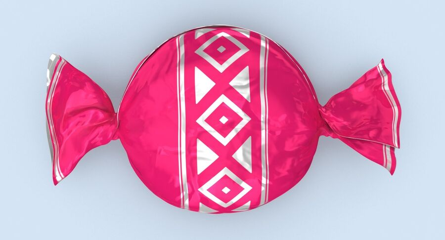 Padrão de doces duros rosa royalty-free 3d model - Preview no. 5