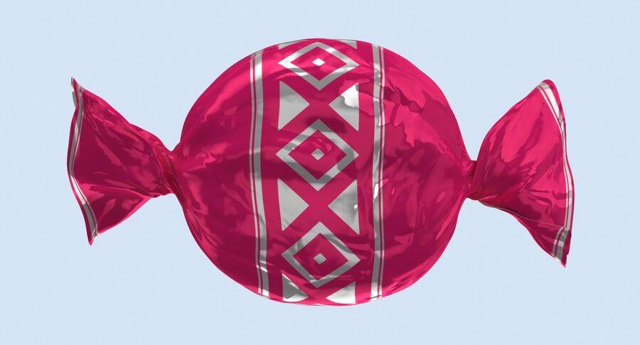Padrão de doces duros rosa royalty-free 3d model - Preview no. 11