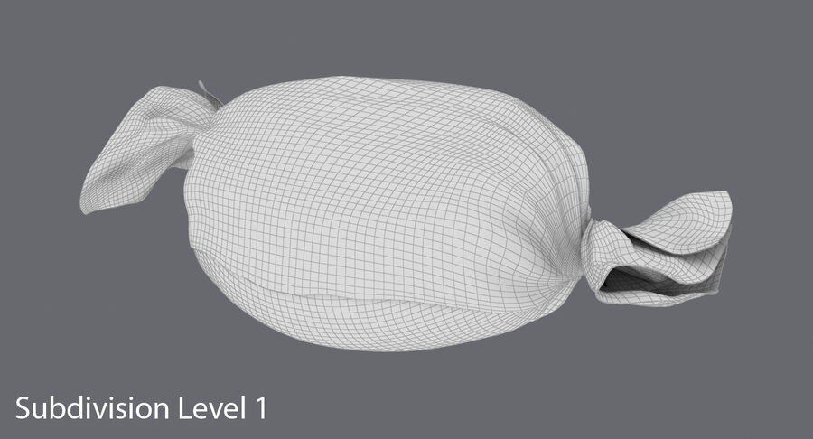 Doces duros rosa pontos royalty-free 3d model - Preview no. 15
