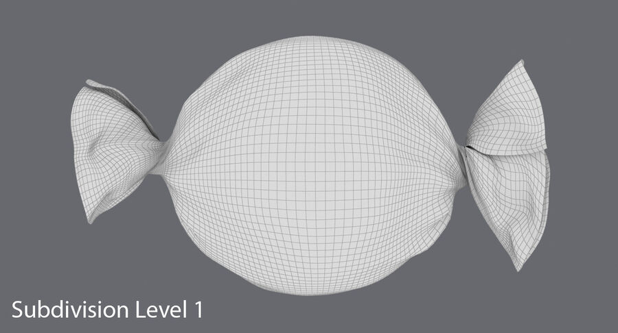 Doces duros rosa pontos royalty-free 3d model - Preview no. 16