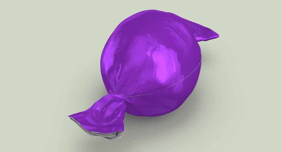 Doces Duros Roxo royalty-free 3d model - Preview no. 4